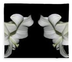 Easter Lilies Panorama Fleece Blanket
