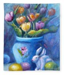 Easter Still Life Fleece Blanket