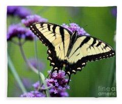 Eastern Tiger Swallowtail Butterfly 2014 Fleece Blanket