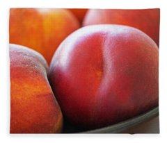 Eat A Peach Fleece Blanket