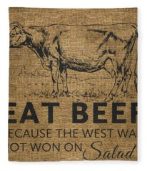 Eat Beef Fleece Blanket