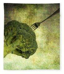 Eat Your Broccoli Fleece Blanket