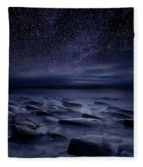 Echoes Of The Unknown Fleece Blanket