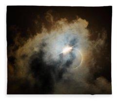 Eclipse Diamond Ring Fleece Blanket