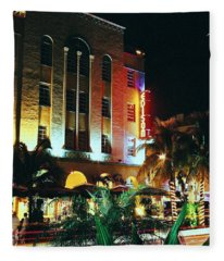 Edison Hotel Film Image Fleece Blanket
