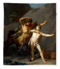 Education Of Achilles Fleece Blanket