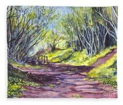 Taking A Walk Down A Spring Lane Fleece Blanket