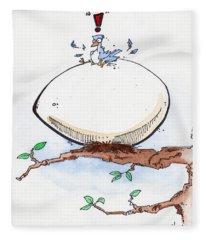 Eggbert Fleece Blanket