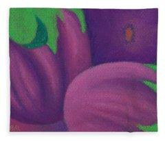 Eggplants Fleece Blanket
