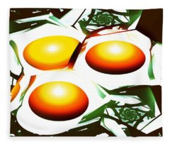 Eggs For Breakfast Fleece Blanket