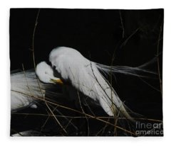 Egret Bird City At Avery Island Louisiana Fleece Blanket