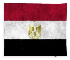Egypt Flag Fleece Blanket