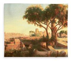 Egyptian Ruins Fleece Blanket