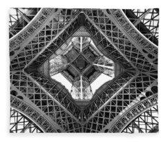 Eiffel Abstract Fleece Blanket