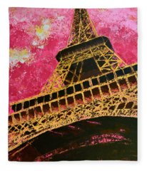 Eiffel Tower Iconic Structure Fleece Blanket