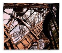 Eiffel Tower Paris France Close Up Fleece Blanket