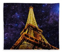 Eiffel Tower Photographic Art Fleece Blanket