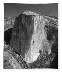 106663-el Capitan From Higher Cathedral Spire, Bw Fleece Blanket