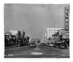 El Rey Theater Main Street Salinas Circa 1950 Fleece Blanket