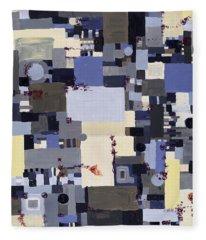 Elastic Dialog Fleece Blanket