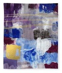 Elemental- Abstract Expressionist Painting Fleece Blanket