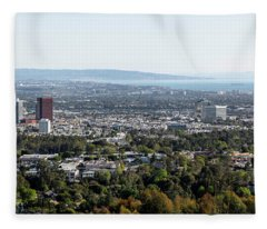 Elevated View Of Buildings, West Los Fleece Blanket