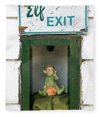 elf exit, Dubuque, Iowa Fleece Blanket