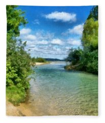 Elk River- Elk Rapids Michigan Fleece Blanket