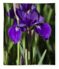 Eloquent Iris Fleece Blanket