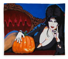 Elvira Dark Mistress Fleece Blanket