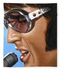 Elvis 24 1970 Fleece Blanket