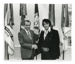 Elvis And Nixon Fleece Blanket