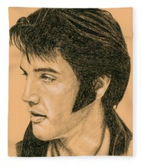 Elvis Las Vegas 69 Fleece Blanket