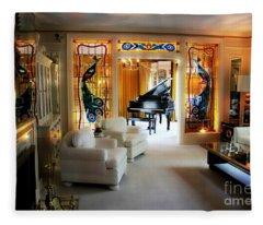Elvis Presley's Living Room Fleece Blanket