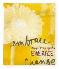 Embrace Change Fleece Blanket