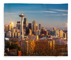 Emerald City Sunset Fleece Blanket