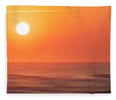 Emerald Isle Sunrise Fleece Blanket