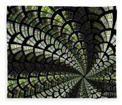 Emerald Whirl. Fleece Blanket