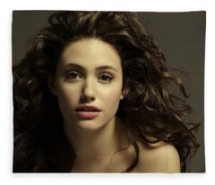 Emmy Rossum Fleece Blanket