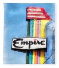 Empire Movie Theater Neon Sign Fleece Blanket