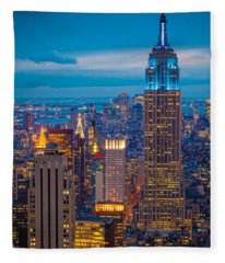 Buildings Fleece Blankets