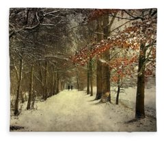 Enchanting Dutch Winter Landscape Fleece Blanket