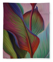 Fleece Blanket featuring the painting Encore by Sandi Whetzel