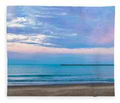 End Of The Blue Hour Fleece Blanket