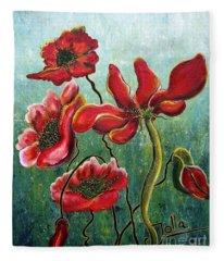 Endless Poppy Love Fleece Blanket