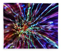 Energy 2 - Abstract Fleece Blanket