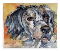 English Setter Portrait Fleece Blanket