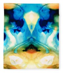 Enlightenment - Abstract Art By Sharon Cummings Fleece Blanket