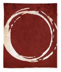 Enso No. 107 Red Fleece Blanket