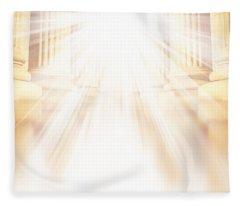 Enter Into His Courts Fleece Blanket